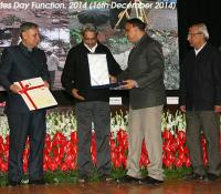Raksha Mantri's Award for Excellence in Defence Land Survey being received by Shri KJS Chauhan, CEO Kirkee