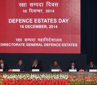 Shri Manohar Parrikar, Hon'ble Raksha Mantri (in the Middle), Shri Rao Inderjit Singh, Hon'ble Raksha Rajya Mantri(Right to RM), Air Chief Marshal Arup Raha, Chief of Air Staff (Left to RM), General Dalbir Singh, Chief of Army Staff (Right to RRM), Admiral RK Dhowan, Chief of Naval Staff (Left to CAS), Shri R K Mathur, Defence Secretary (Right to Chief of Army Staff), Shri Vasumitra, Chief Postmaster General, Delhi Circle (Left to CNS) and Shri Harish Prasad, Director, NIDEM(Left to Chief Postmaster Gen.)