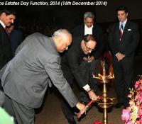Shri R K Mathur, Defence Secretary and Shri Ravi Kant Chopra, Director General Defence Estates Lighting the Lamp