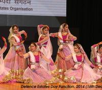 Cultural Event performed by students from Lucknow Cantonment Board on Defence Estates Day 2014