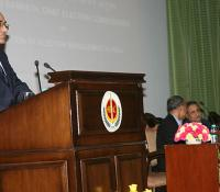 Shri Ravi Kant Chopra, DGDE addressing on Defence Estate Day Lecture 2014