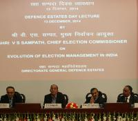 Shri V S Sampath, CEC (second from left), Shri D P Aggrawal, Former UPSC Chairman(third from Left), Shri Ravi Kant Chopra, DGDE (Right to CEC) and Shri RP Singh, PD DE NC (left to Shri DP Aggrawal)