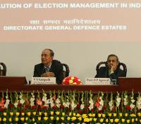 "Shri VS Sampath, CEC handelling the Quetionnaire after Lecture on ""Evolution of Election Management in India"""