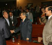 Dignitaries meeting each other