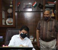 Assumption of regular charge of Director General, Defence Estates by Shri Prachur Goel