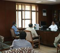 Shri Prachur Goel, the then DGDE interacting with Officers of Directorate General Defence Estates
