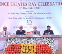 Prof David R Syiemlieh, Chairman, UPSC, Shri Parameswaran Iyer, Secretary (DWS), Shri J Sharma, DGDE and Shri A Bhaskar Reddy, SADG on Dais