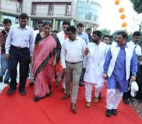 Hon'ble RM proceeding to attend the function at Delhi Cantonment