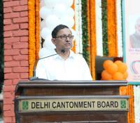 Shri Sanjay Mitra, Defence Secretary addressing