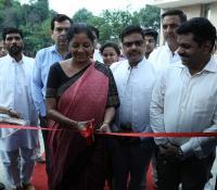 Hon'ble RM inaugurating the Photo Exhibition at Delhi Cantonment