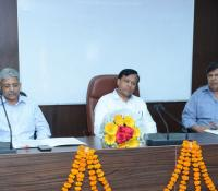 Director General (in the middle), Senior Additional Director General (rightmost) and Additional Director General (Official Language) (Leftmost) sharing the dais