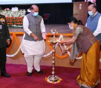 Smt. Deepa Bajwa, Director General Defence Estates lighting the lamp for the launch of eChhawani Project on 16-02-2021