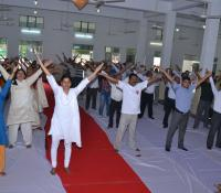 International Yoga Day Celebration at Cantonment Board Allahabad