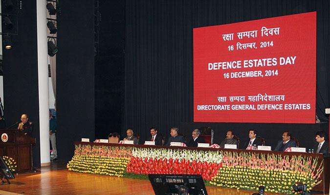 Shri Ravi Kant Chopra, Director General Defence Estates Addressing the gathering on Defence Estates Day, 2014 at Manekshaw Auditorium, Delhi Cantt
