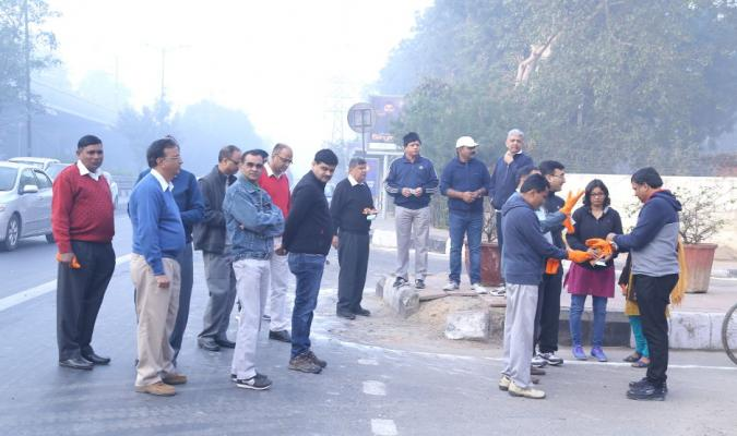 Shri Jojneswar Sharma, DG DE & other Officers gathered for Cleanliness Drive