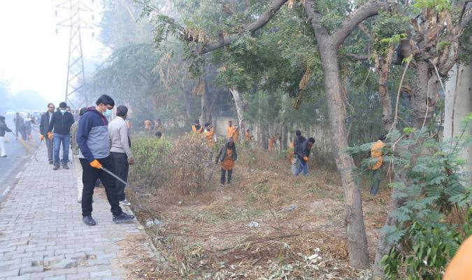 Cleanliness Drive being performed by DGDE Officers & Staff