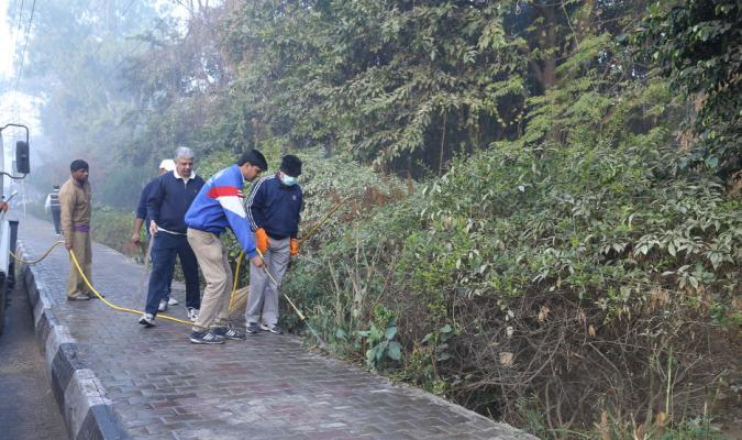 Activity during Cleanliness Drive