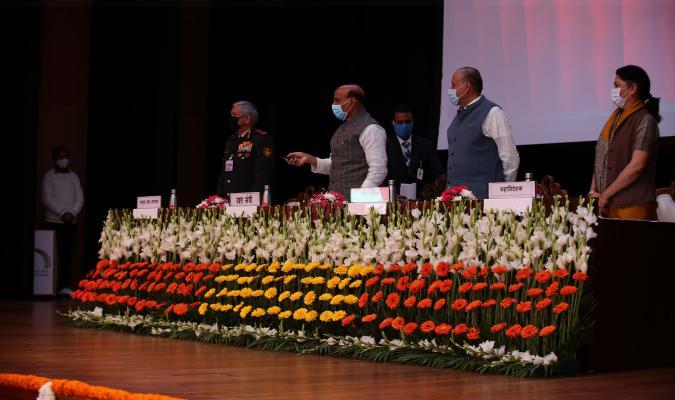 माननीय रक्षा मंत्री श्री राजनाथ सिंह द्वारा 16-02-2021 को चाणक्य सभागार, राष्ट्रीय रक्षा सम्पदा प्रबंधन संस्थान, दिल्ली छावनी में ई-छावनी परियोजना का लोकार्पण ।