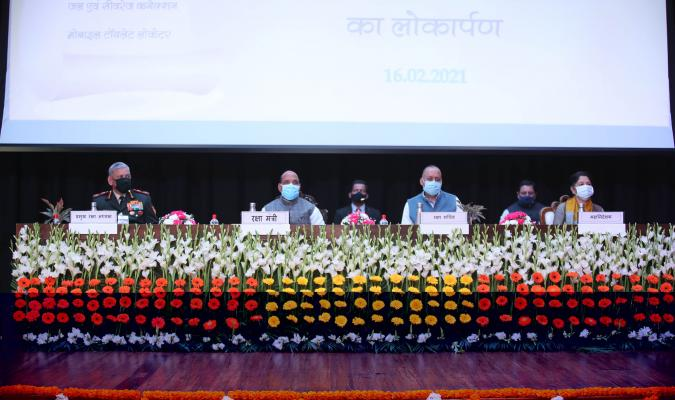 Dignitaries at Dais during the launch of eChhawani Project on 16-02-2021
