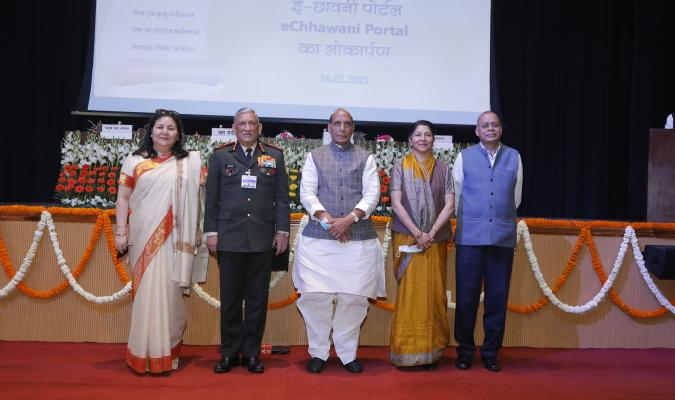 Group Photograph during the launch of eChhawani Project on 16-02-2021