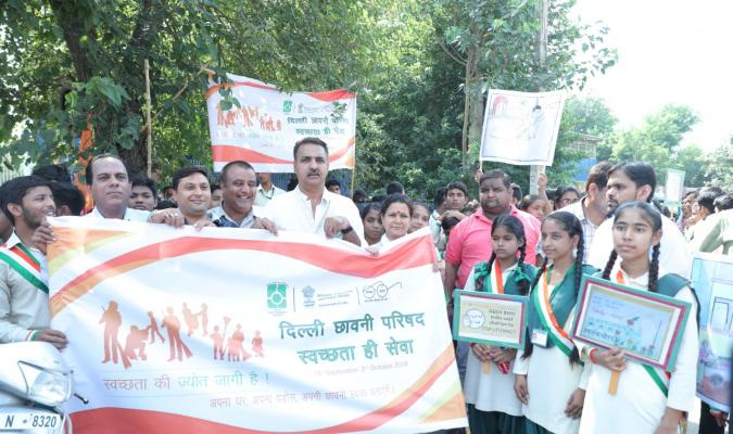 Swachhata Hi Seva, 2018 Rally in Delhi Cantonment spreading awareness