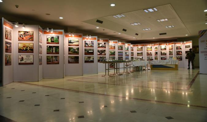 DED-2017: A View of Exhibition on Works performed by the Defence Estates Department