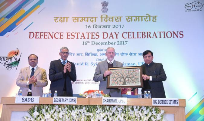 DED-2017: Prof David R Syiemlieh, Chairman, UPSC receving memento from Shri Jojneswar Sharma, DGDE