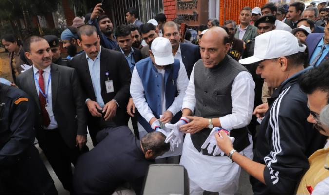 Swachhata Pakhwada 2019: Shri Rajnath Singh, Hon'ble RM and Shri Shripad Yesso Naik, Hon'ble RRM