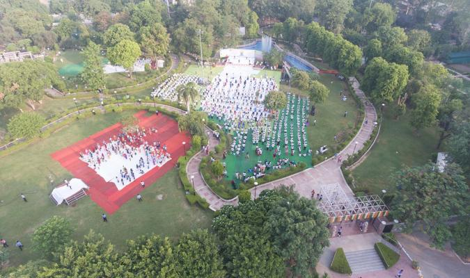 Ariel View during International Yoga Day - 2019 Celebration