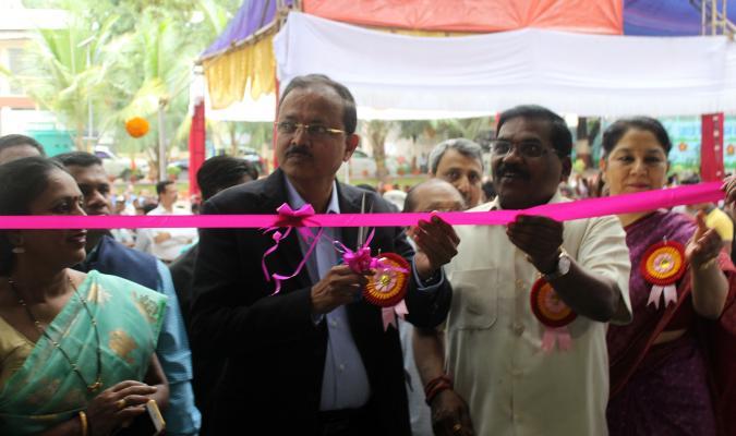Dr Subhash Bhamre, Hon'ble Raksha Rajya Mantri inaugurating Dr. Ambedkar Memorial Industrial Training Institute (ITI) at Pune Cantonment