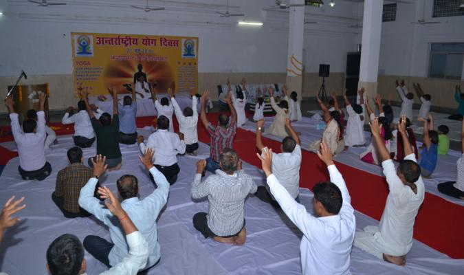 International Yoga Day, 2016 Celebration in Allahabad Cantonment - 02