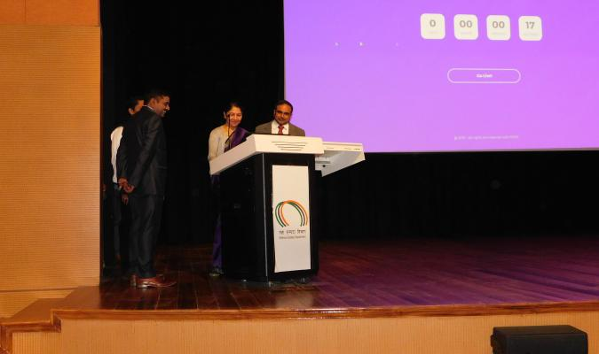 Launch of Website of NIDEM by Smt Deepa Bajwa, DGDE at Chankya Auditorium, NIDEM on 29th January, 2019