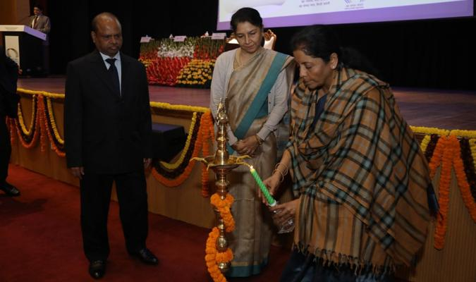 Hon'ble RM lighting the lamp for inaugurating the ceremony