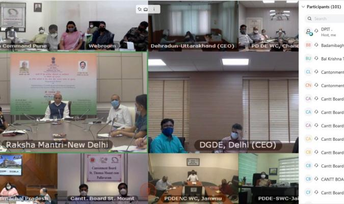 Webinar on Implementation of Centrally Sponsored Schemes in Cantonments